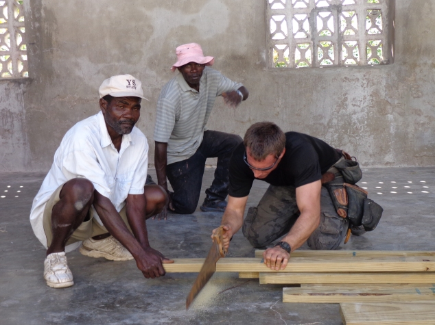 Brent and Haitian helpers