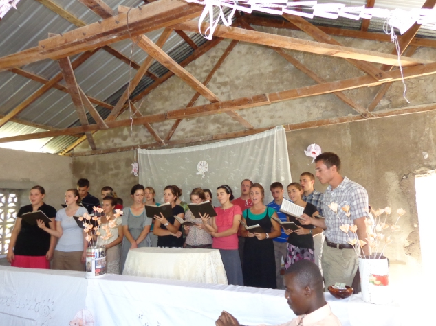 Singing for the Church we worked at