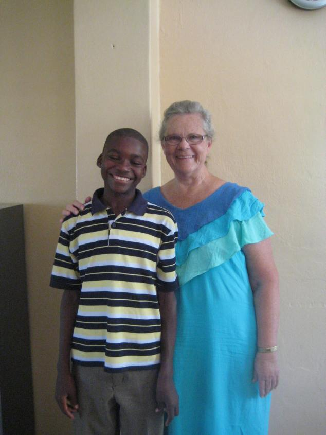 Connie with a sponsor student