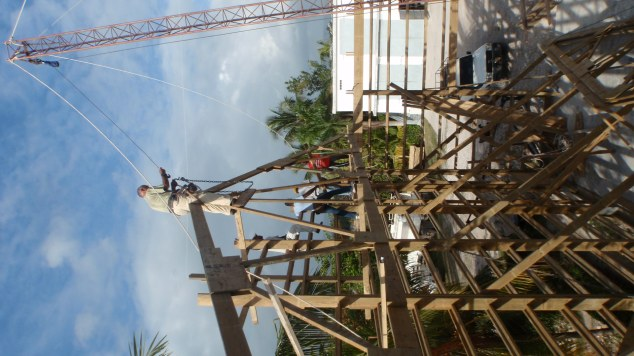 Putting trusses up