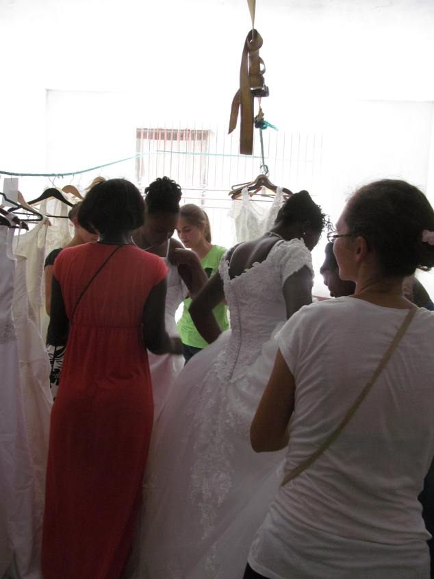 Getting brides fitted