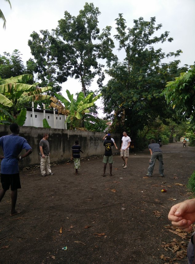 The guys enjoyed playing a game of soccer with the Haitians.  It was our team/staff vs. a Haitian group.  It was fun to watch!