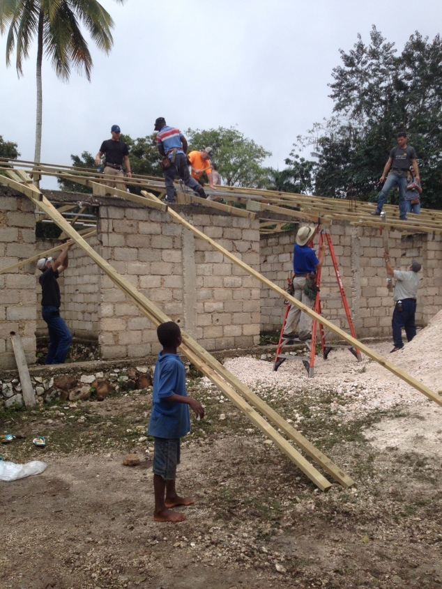 The roof went up fast! This project was completed on Saturday.