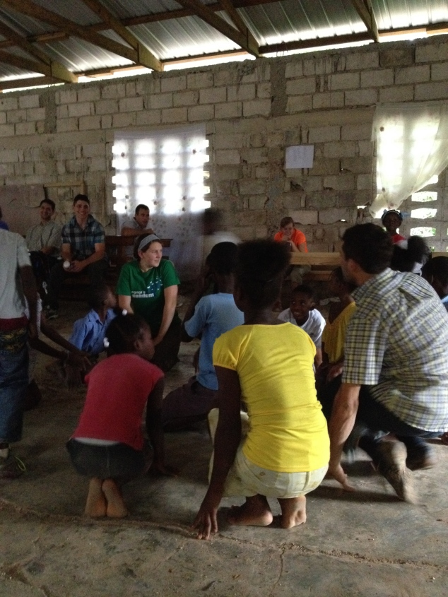 """Sunday afternoon was filled with worshiping together with the Haitians,  singing and praying to the shut-ins, and playing """"Duck, Duck Goose!"""" with the children."""