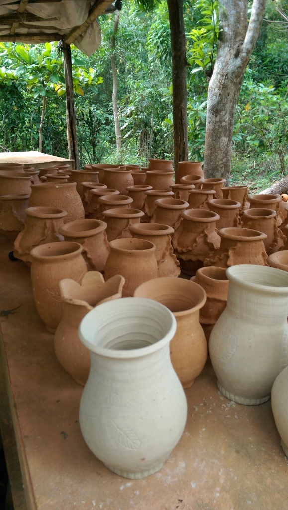 We stopped at locals house to check out the pottery he makes.  It was neat to see what they can make with the clay the dig out of the ground.