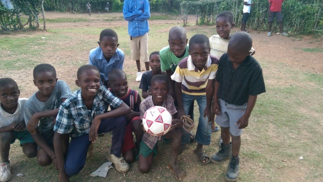 The boys were asking all morning if they could have a soccer ball. I told them once the work was done we would start a game with them. They were ecstatic! They said this was the first real soccer ball they've ever had!