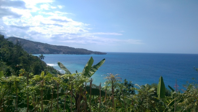 Beautiful blue Caribbean ocean.