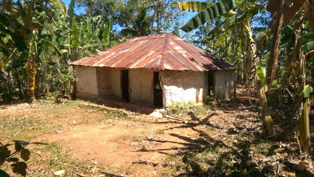 As a side note, this is the building that the members worshiped in before we covered their new church building.  It has a gravel floor, and no doors. The pastor shared with us how the surround community would mock them and discourage them because they had such a poor building to worship in.  Now that they have a new building, with a brand new roof, I'm so excited that they have an opportunity to invite those who laughed at them to come enter into their new church!  Putting a roof on is so much more than what it might seem.  For the people in Haiti, it changes so much in the way that they can worship and evangelize .