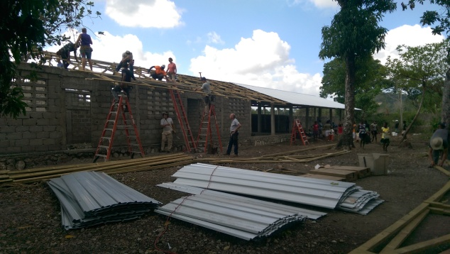 Saturday we finished the school roof of a local job. The previous team from Pinetta worked on half the roof two weeks earlier, and we were able to complete it with the Roanoke team.
