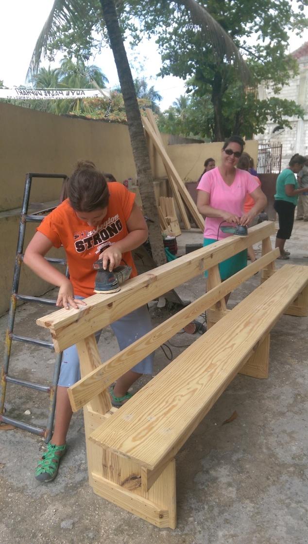 The sanding crew