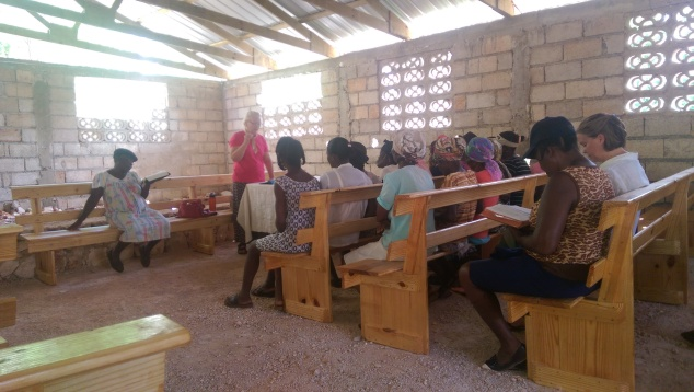Before we left to head back to Cayes, Anne(a member of the team) hosted a womens ministry for the ladies of the church.   Since Anne grew up in Haiti and is fluent in Creole, she was able to speak right to the women without an interpreter. It was a huge blessing to them!